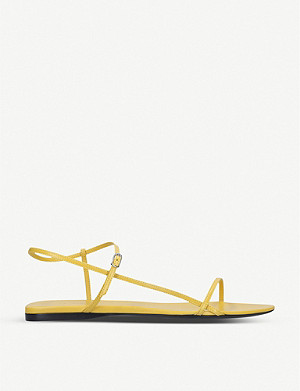 THE ROW Nude criss-crossed leather sandals
