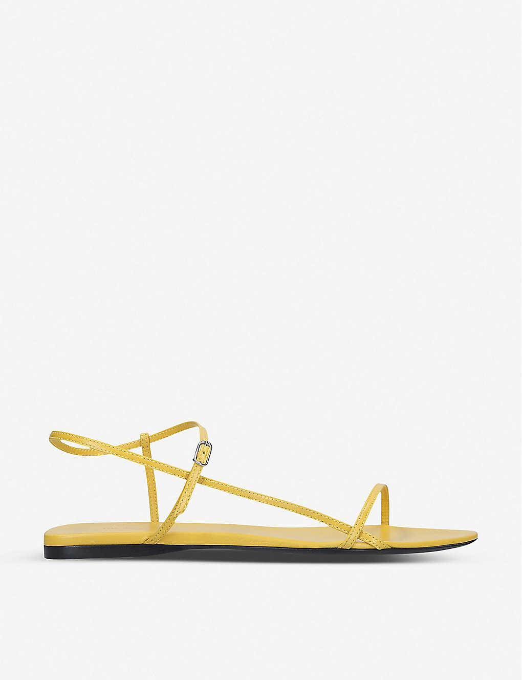 THE ROW: Nude criss-crossed leather sandals