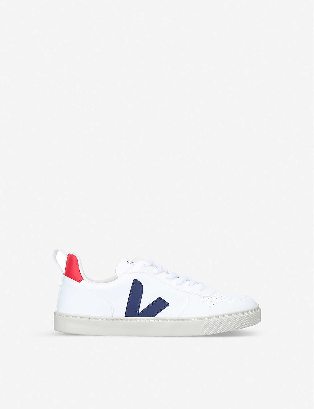 VEJA: V-10 logo-appliqué coated-cotton low-top trainers 7-12 years