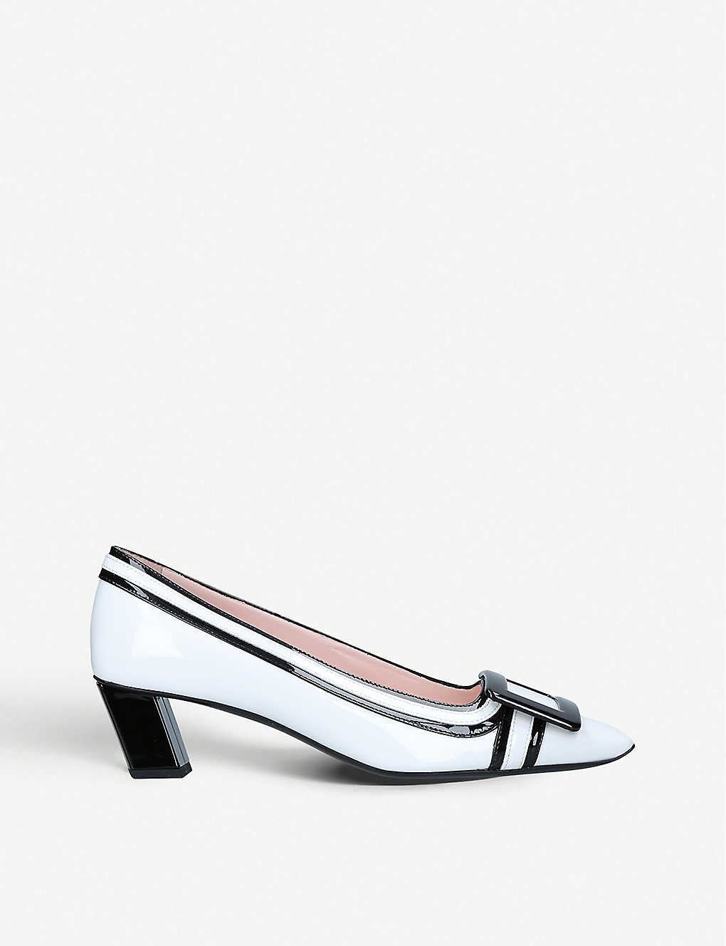 ROGER VIVIER: Belle Vivier leather heeled courts