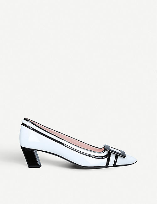 ROGER VIVIER Belle Vivier leather heeled courts