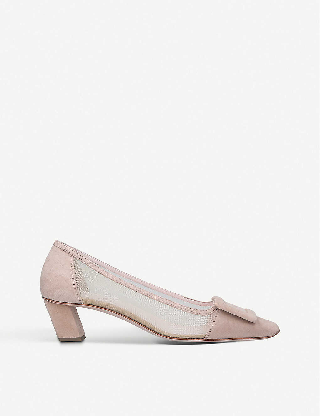 ROGER VIVIER: Belle Vivier mesh and suede courts