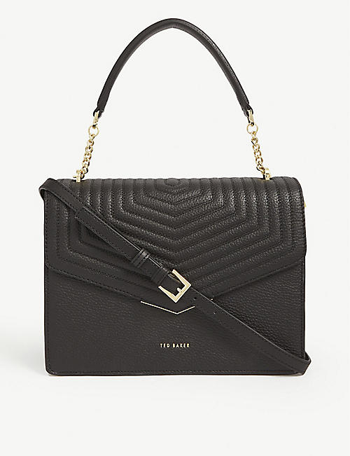 TED BAKER: Brittni quilted leather satchel