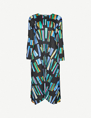 PLEATS PLEASE ISSEY MIYAKE Graphic-print pleated plissé midi dress