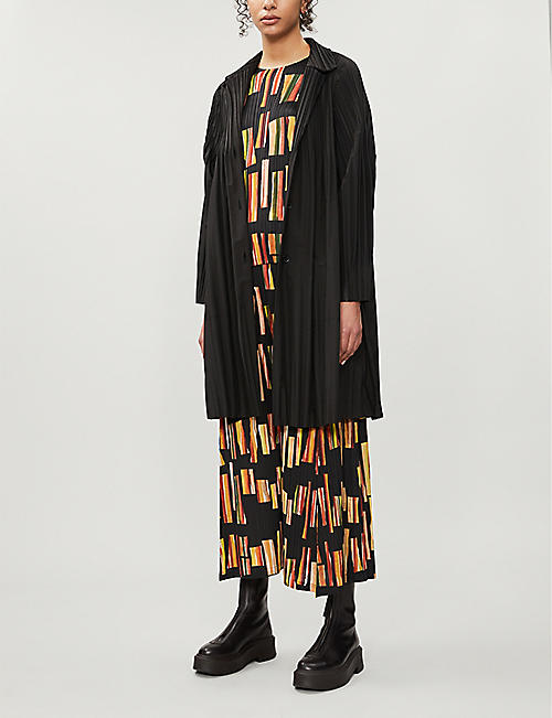 PLEATS PLEASE ISSEY MIYAKE Hopscotch Colours pleated woven top