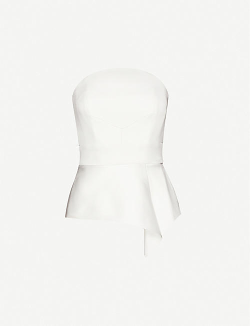 ROLAND MOURET Penn strapless crepe top