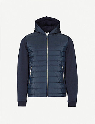 REISS: Basing hooded padded shell and jersey jacket