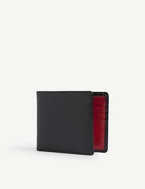 LAUNER Leather bifold wallet