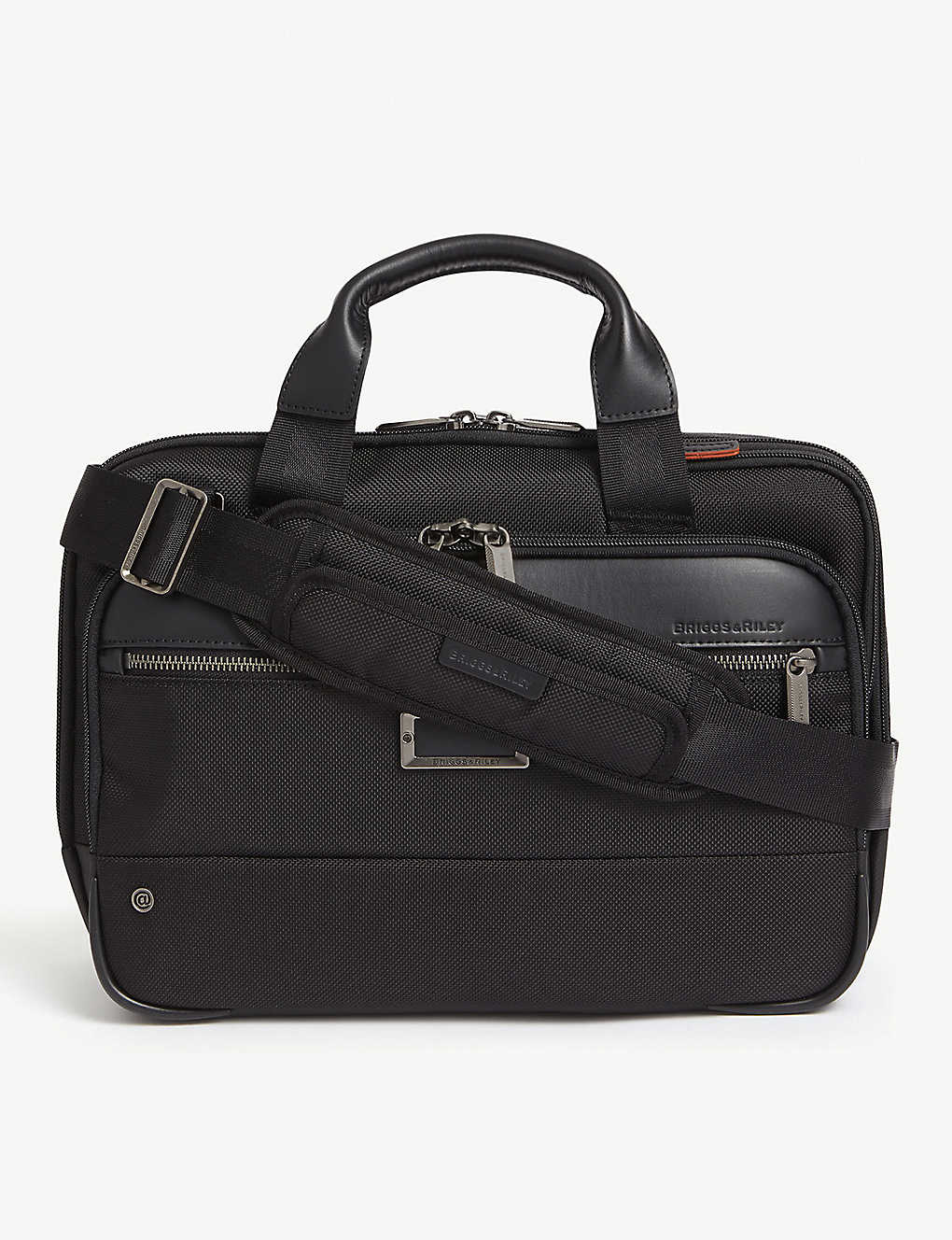 BRIGGS & RILEY: Small expandable ballistic nylon briefcase