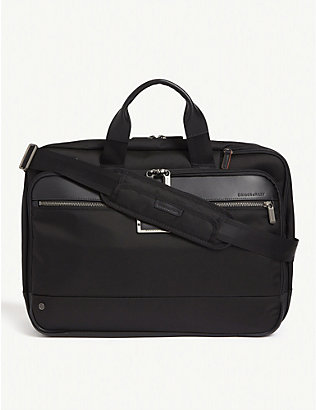 BRIGGS & RILEY: Large expandable ballistic nylon briefcase