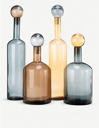 POLS POTTEN: Bubbles and Bottles XXL glass bottles set of four