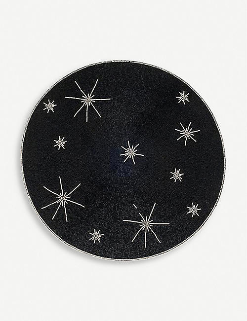 JOANNA BUCHANAN: Star-embroidered cotton coaster 10cm