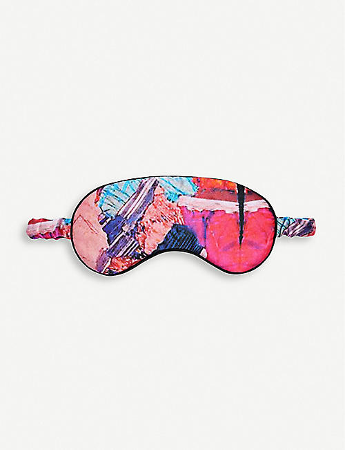 BEATRICE JENKINS: Twinning Crystal silk eye mask