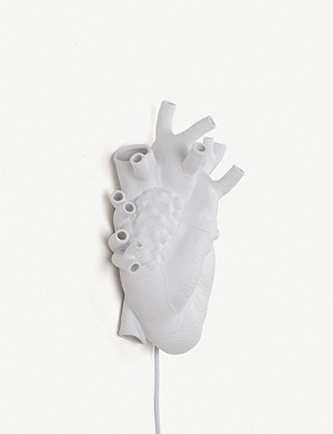 SELETTI Heart porcelain lamp