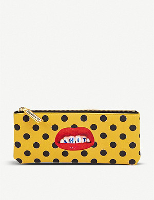 SELETTI Seletti wears Toiletpaper Sh*t-print faux-leather pencil case