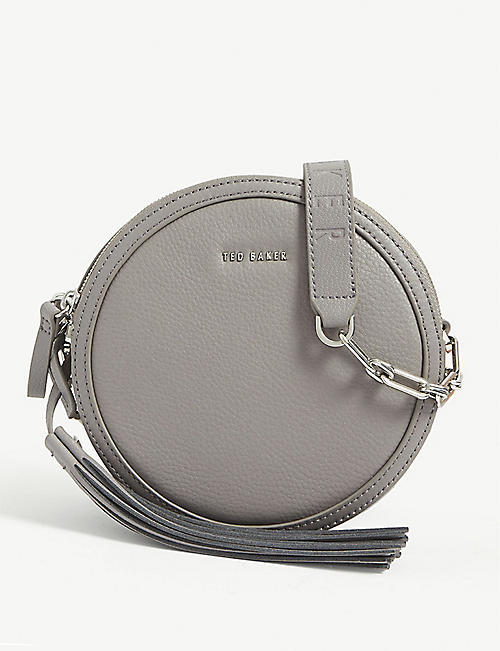 TED BAKER: Errinn circle leather crossbody bag