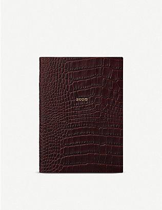 SMYTHSON: Soho crocodile-embossed leather 2020 diary 19cm x 14cm