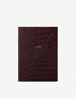 SMYTHSON Soho crocodile-embossed leather 2020 diary 19cm x 14cm