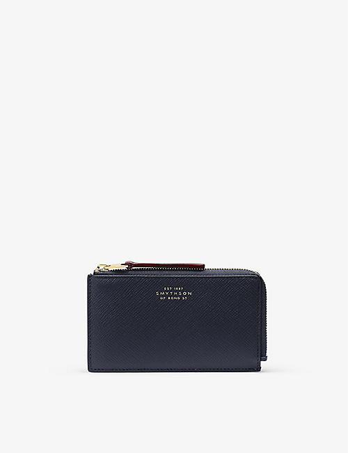 SMYTHSON: Panama leather coin purse