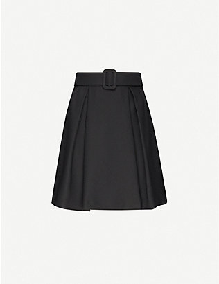 CLAUDIE PIERLOT: Selene belted crepe mini skirt