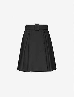 CLAUDIE PIERLOT Selene belted crepe mini skirt