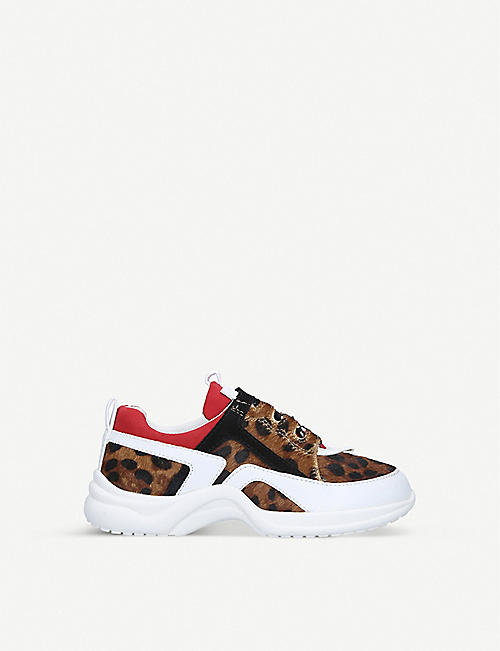 KG BY KURT GEIGER: Mini Lunar leopard-print trainers 7-9 years