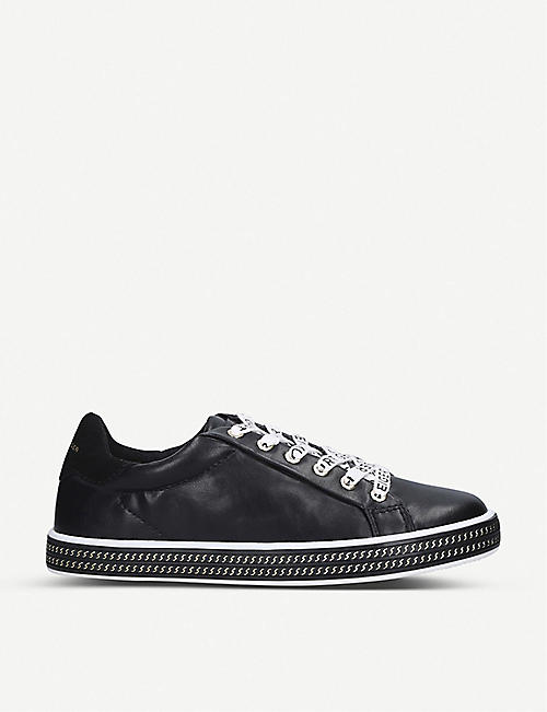 KURT GEIGER LONDON: Mini Lambert faux-leather trainers 7-9 years