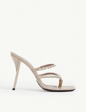 FENTY T-heel square toe sandals