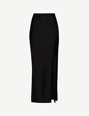 FENTY Side-split satin maxi skirt