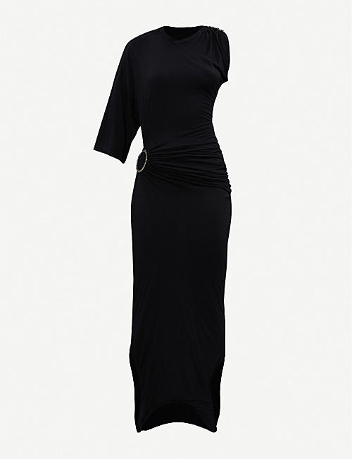 FENTY Buckle-embellished stretch-jersey maxi dress
