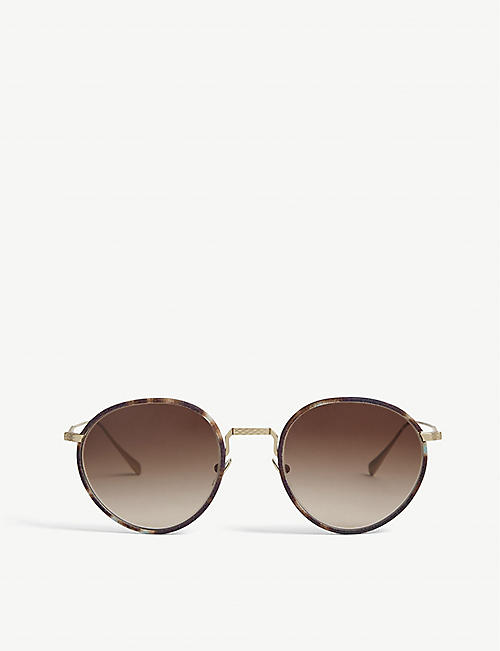 GIORGIO ARMANI: AR6103J 51 metal and acetate round-frame sunglasses