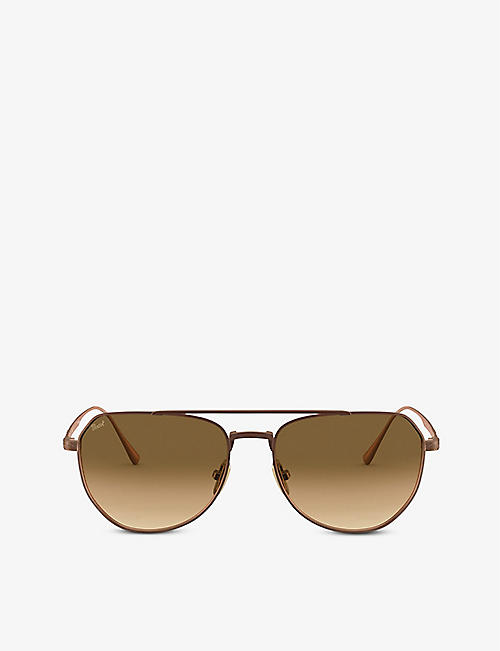 PERSOL: PO5003ST Titanium titanium and crystal sunglasses
