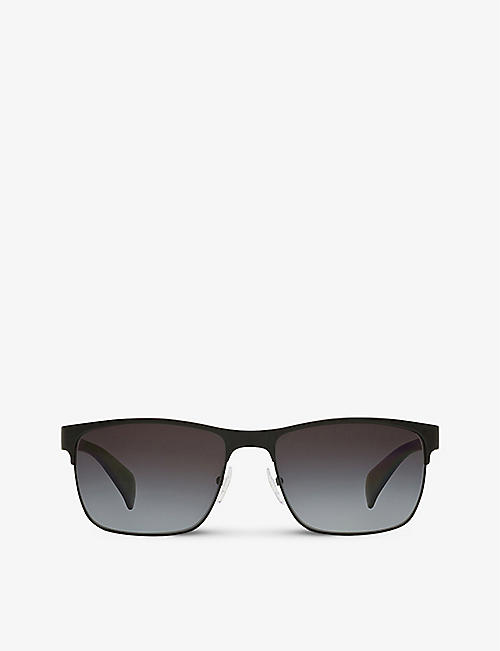 PRADA: PR 51OS rectangle-frame metal sunglasses