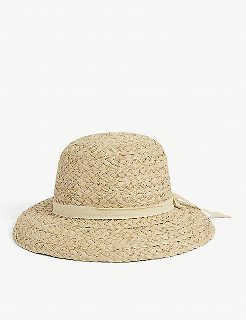 LACK OF COLOR: Bloom raffia hat