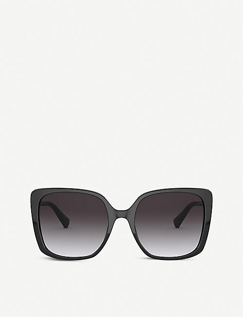 BVLGARI: BV8225B Fiorever metal and acetate square-frame sunglasses