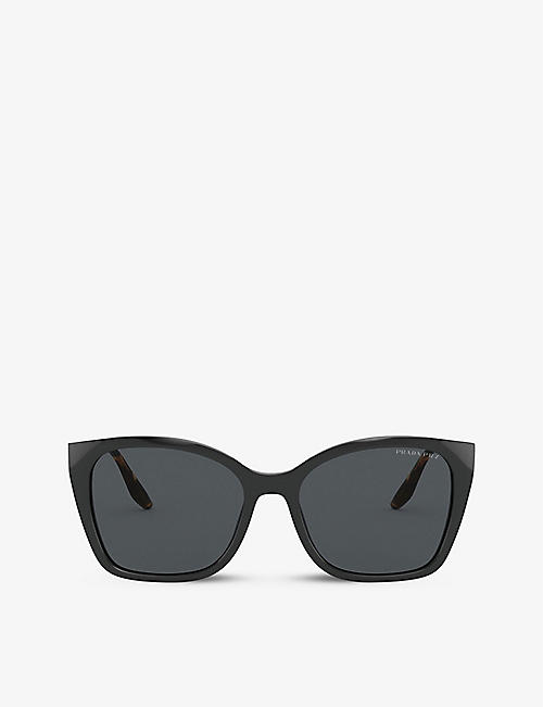 PRADA: PR 12XS cat-eye frame acetate sunglasses