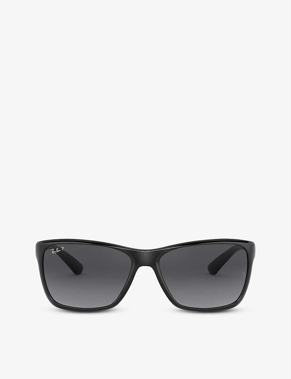 RAY-BAN: RB4331 square-frame polarised acetate sunglasses