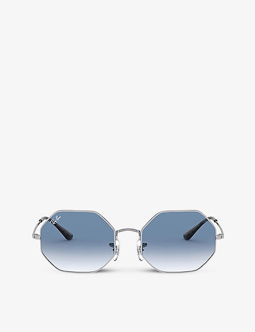 RAY-BAN: RB1972 octagonal-frame metal sunglasses
