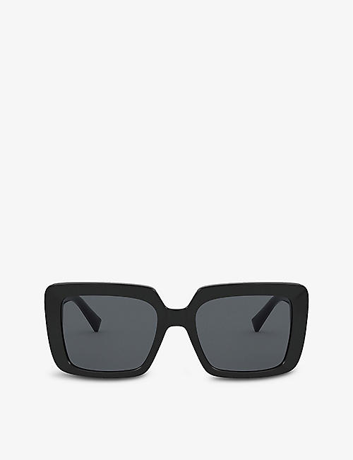 VERSACE: VE4384B square-frame acetate sunglasses