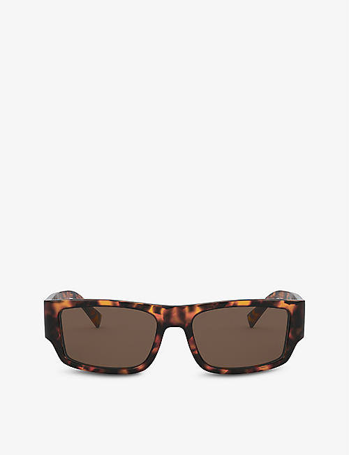 VERSACE: VE4385 rectangular-frame acetate sunglasses