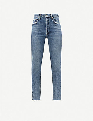 AGOLDE: Jamie Classic high-rise straight jeans