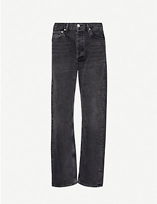 AGOLDE: Mr Loose mid-rise straight-leg denim jeans
