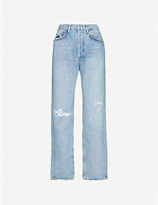 AGOLDE: 90s loose-fit high-rise ripped jeans