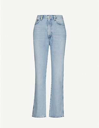 AGOLDE: Pinch Waist flared high-rise jeans