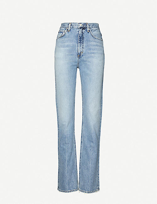 AGOLDE: Vintage high-rise organic cotton jeans