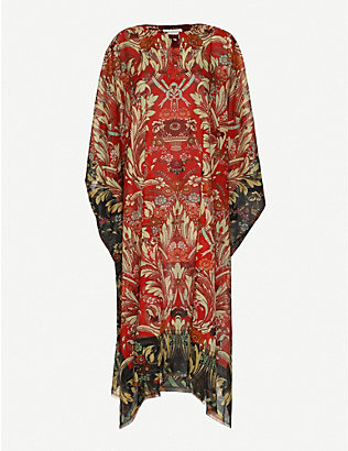 DRIES VAN NOTEN: Floral-print cotton kaftan