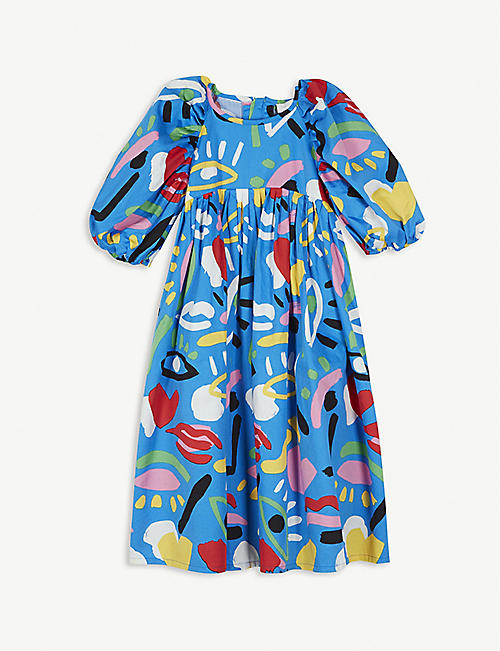 STELLA MCCARTNEY Graphic-print cotton dress 2-16 years