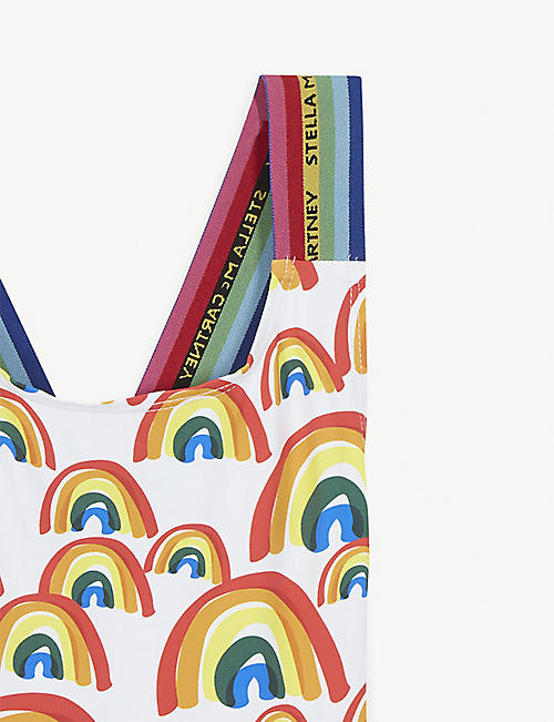 STELLA MCCARTNEY Rainbow-printed swimming costume 4-16 years