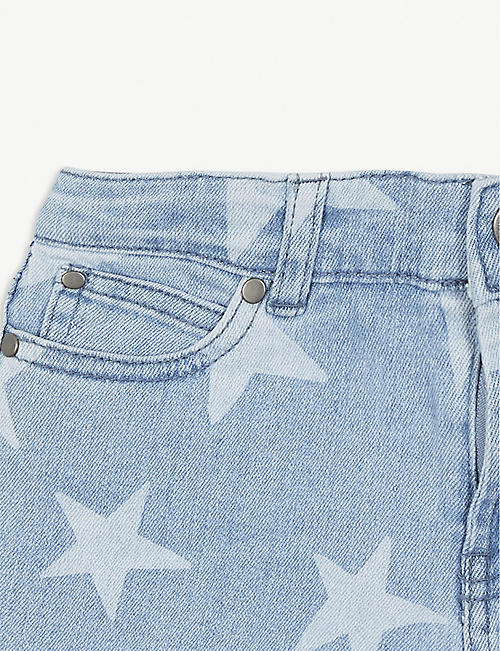 STELLA MCCARTNEY Star-printed denim shorts 4-16 years