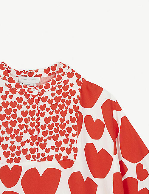 STELLA MCCARTNEY Heart print crepe Kimono dress 4-16 years